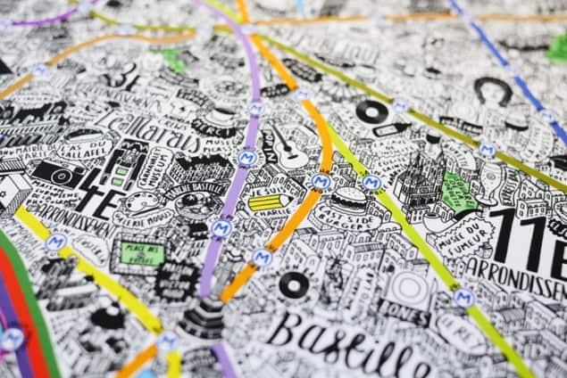 Jenni Sparks Paris Map Evermade Photo Je Suis Charlie