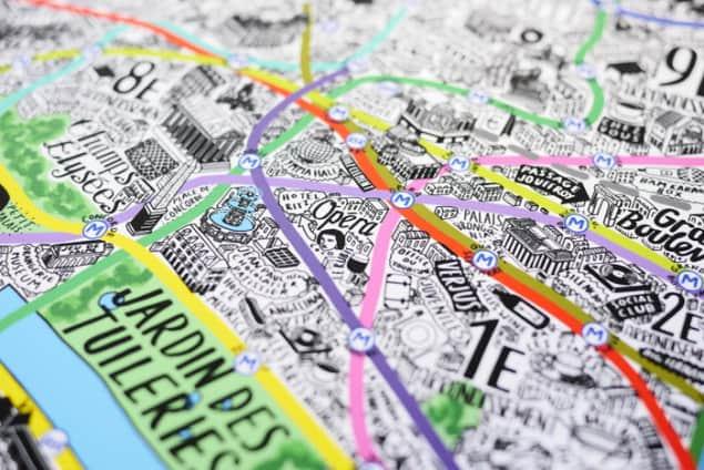Jenni Sparks Paris Map Evermade Photo Opera