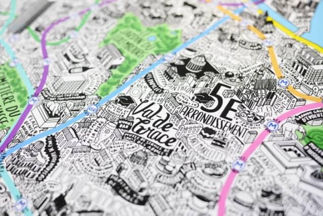 Jenni Sparks Paris Map Evermade Photo Val de Grace