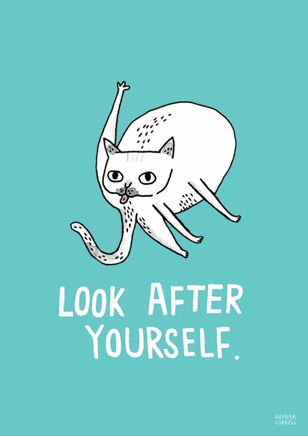 Advice to Sink in Slowly by Gemma Correll