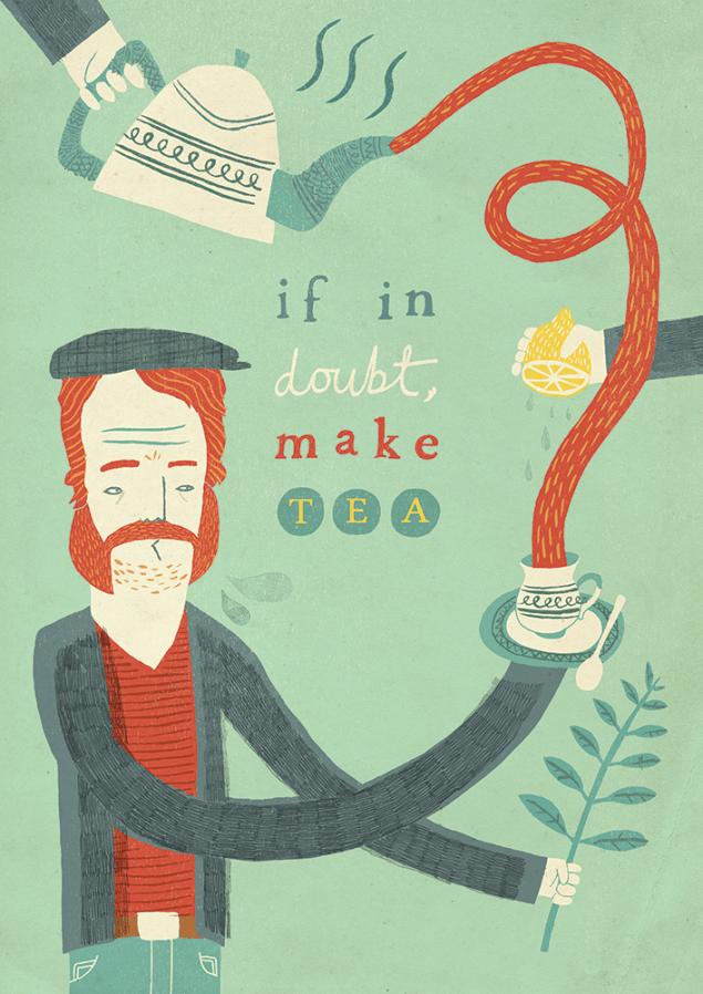 Advice to Sink in Slowly by Owen Davey
