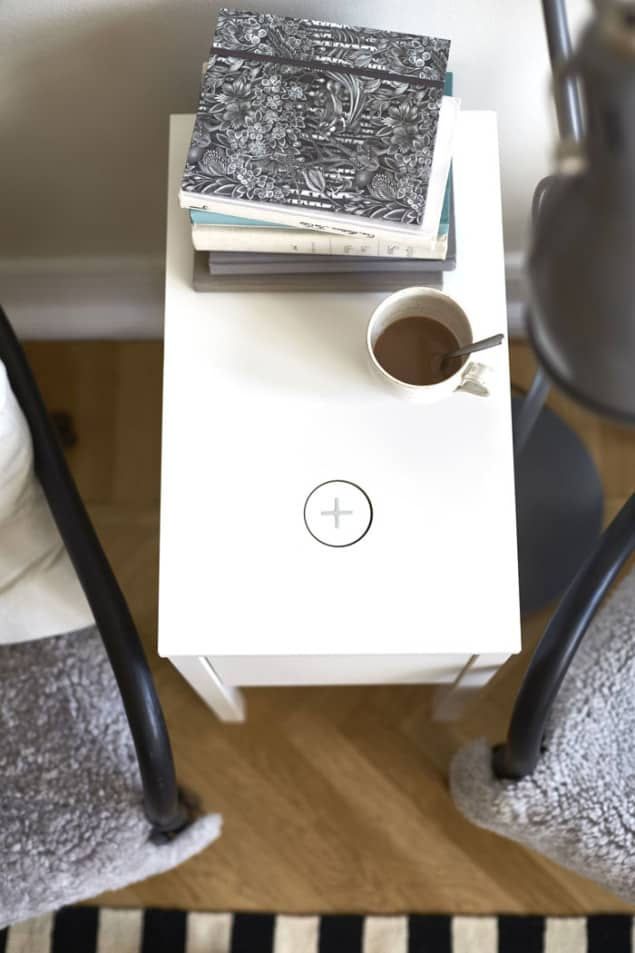 IKEA Wireless Charging Nordli Bedside Table