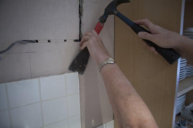 Removing old Kitchen Tiles