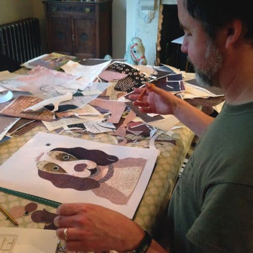 Artist Designer Simon Hart at work