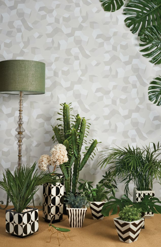 Cole & Son Geometric II Puzzle grey Wallpaper