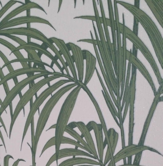 Honolulu Palm Green Wallpaper