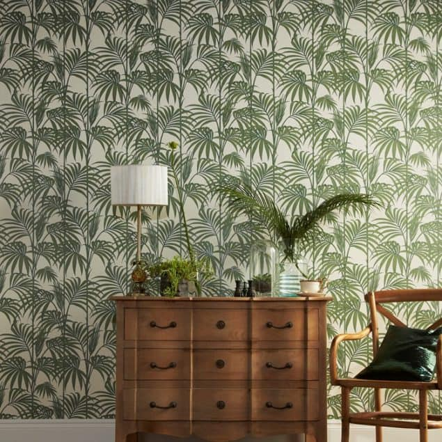 Honolulu Palm Green Wallpaper by Graham & Brown