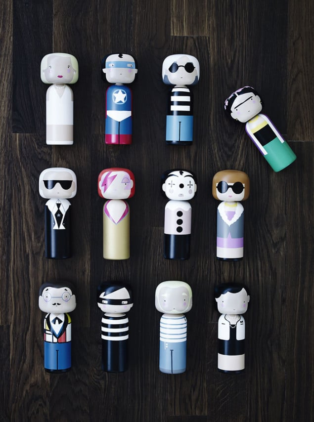 Kokeshi Dolls by Sketch Inc for Lucie Kaas