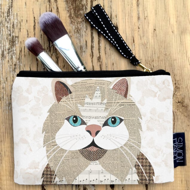 Persian Cat Purse by Simon Hart
