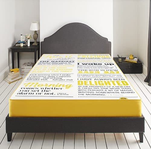 Limited Edition Eve typographic mattresses