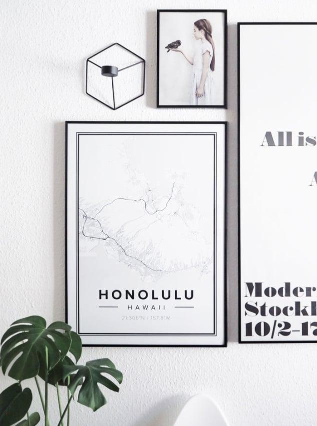 Mapiful Honolulu map posters