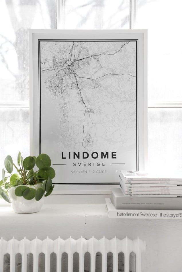 Mapiful Lindome map posters