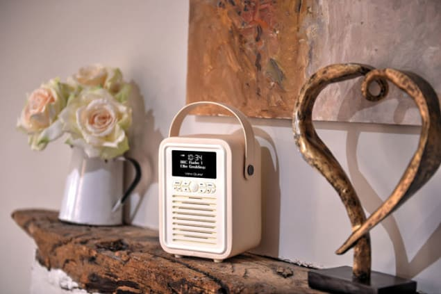 View Quest retro Mini DAB Radio in cream