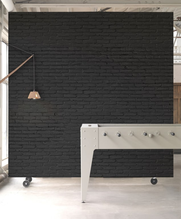 BLACK BRICK WALLPAPER BY PIET HEIN EEK for NLXL