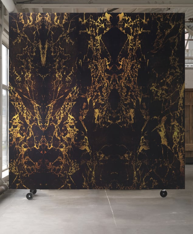 BLACK METALLIC MARBLE WALLPAPER BY PIET HEIN EEK for NLXL
