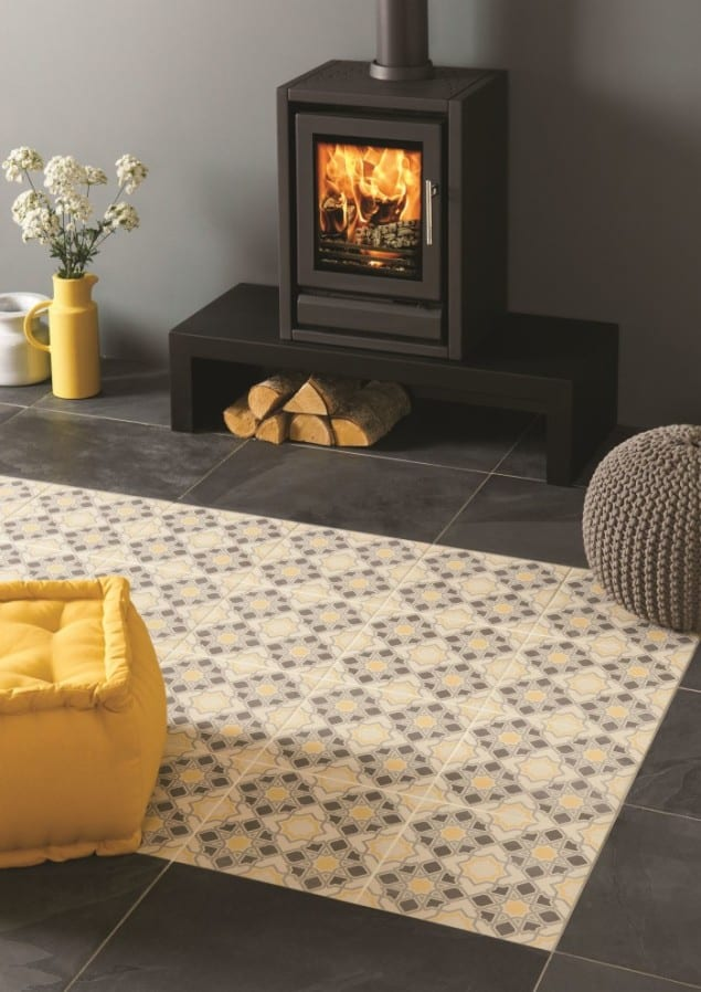 Blue Bolero tiles from the Odyssey collection by Original Style