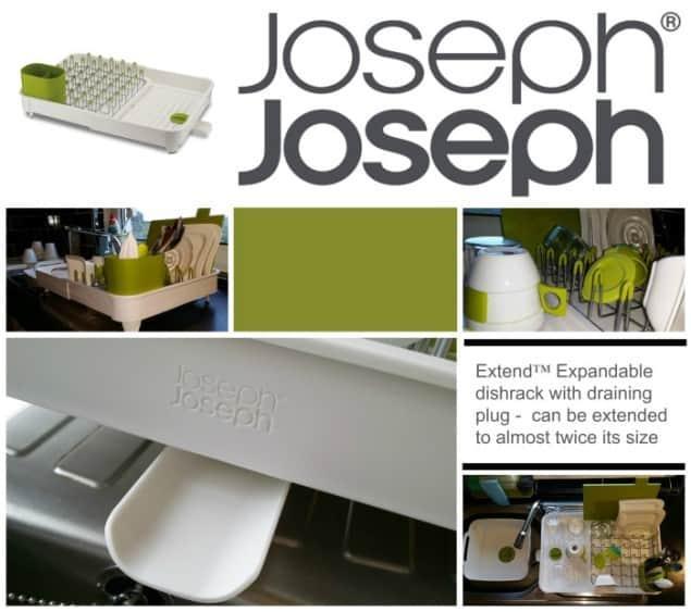 Joseph Joseph Extend Expandable Dishrack with draining plug