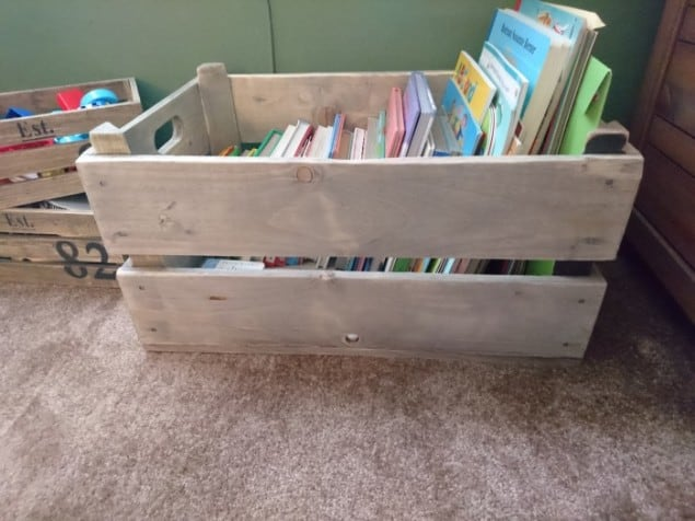 Stylish Toy Storage in Vintage Style crate from Also Home 2