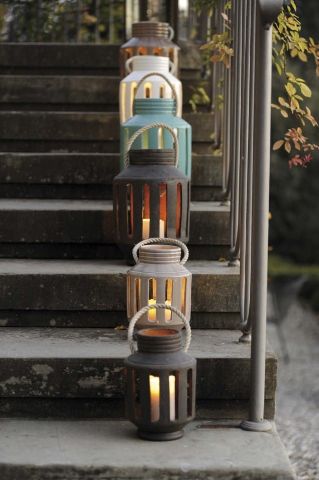 Virginia Casa Lanterna Range of Earthenware Lanterns from Kensington Design