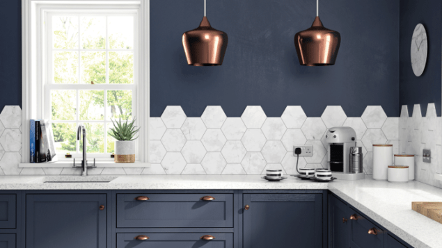 The Kitchen Collection HD Laurel Hex Multi Porcelain Tile by British Ceramic Tile