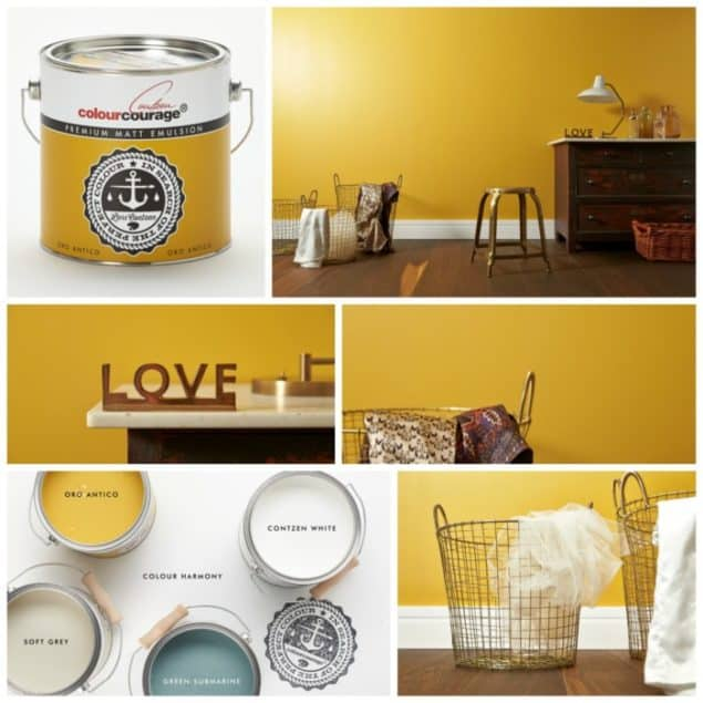 ColourCourage Oro Antico Yellow Paint from B&Q