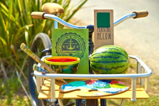 Inspiration for ColourCourage MORNING MELON Green paint by Lars Contzen