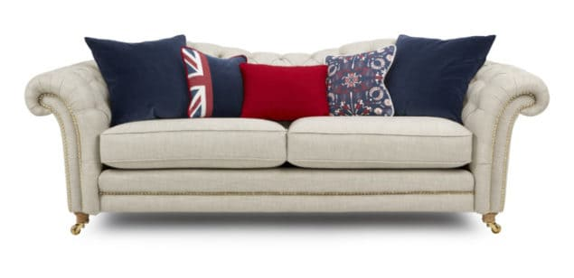 Britannia Sofa by DFS the official homeware partner for Team GB at Rio 2016 Olympic Games