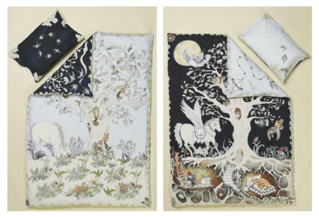 Forivor Enchanted Forest Bedding Front and Back with Pillow