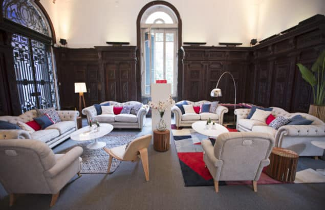Headquarters of Team GB at the Rio 2016 Olympic Games featuring Britannia Sofas by DFS