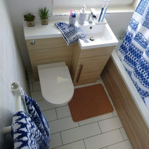 Small Bathroom refresh using Indigo Blue accessories from Sorema