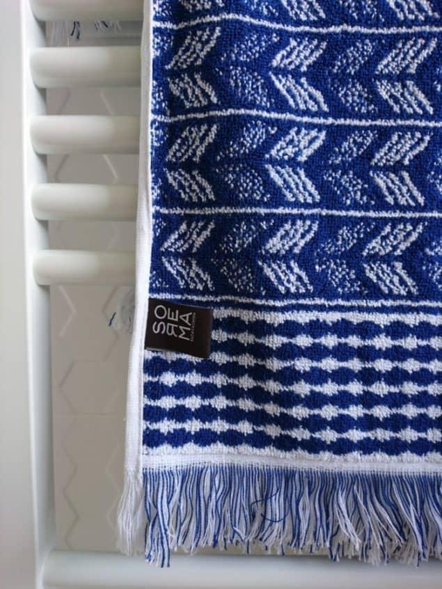 Small Bathroom refresh using Indigo Blue accessories from Sorema
