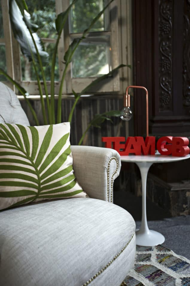 The Britannia Accent Chair by DFS the official homeware partner for Team GB at Rio 2016