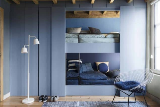 Dulux Colour Futures 17 - Colour of the Year - Denim Drift - Kids Bedroom - Denim Drift, Sash Blue, Cornflower Bunch, Marine Waters
