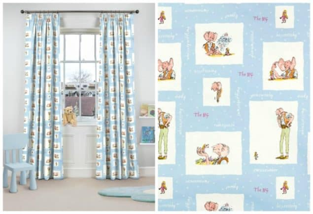 roald dahl BFG curtains from curtains.com