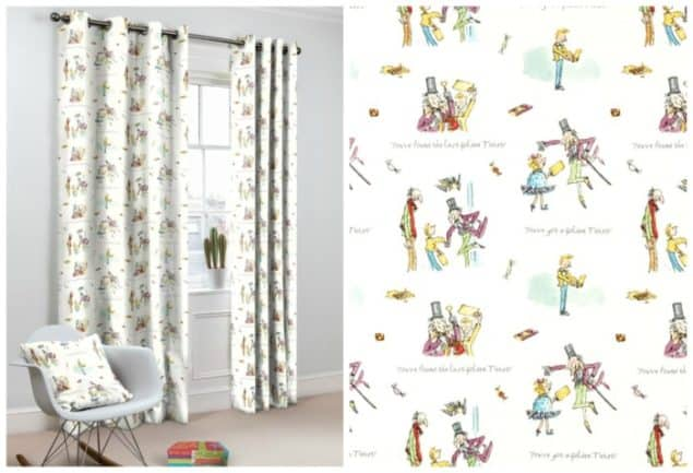 Roald Dahl Charlie & The Chocolate Factory Curtains from curtains.com