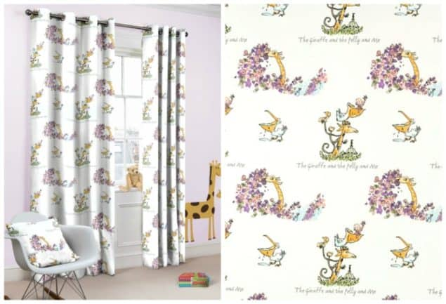 Roald Dahl Giraffe Pelly & Me Curtains from curtains.com