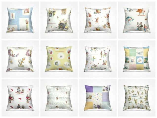 Roald Dahl cushions from curtains.com