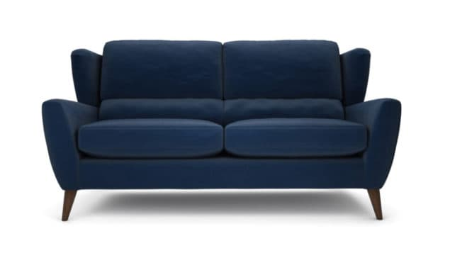 Florence Navy Blue 2.5 seater sofa from the Lounge Co