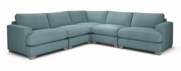 Lola Blue Corner sofa from The Lounge Co