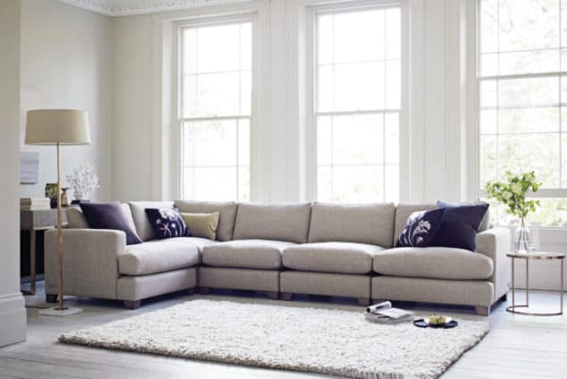 Lola Grey corner sofa from the Lounge Co