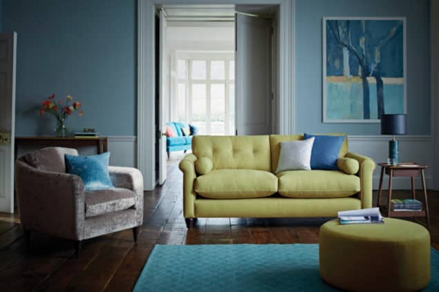 Phoebe Green sofa from The Lounge Co