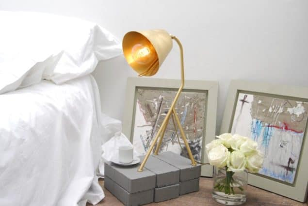 mushroom designs totnes devon trivy brushed brass task light