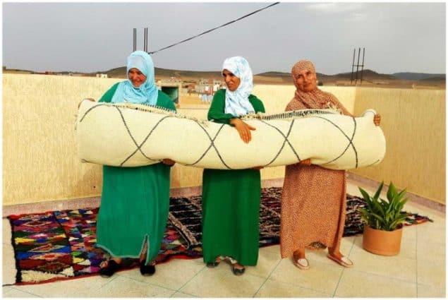 Sukhi Beni Ourain Berber Wool Carpet