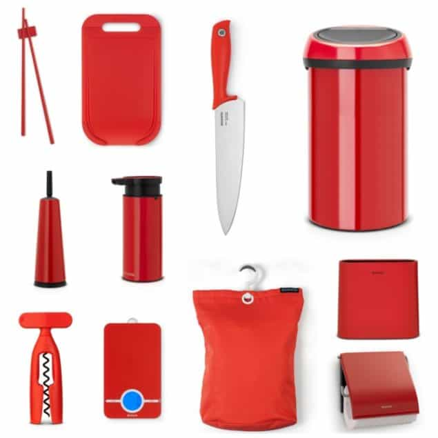 Brabantia Household Items in red