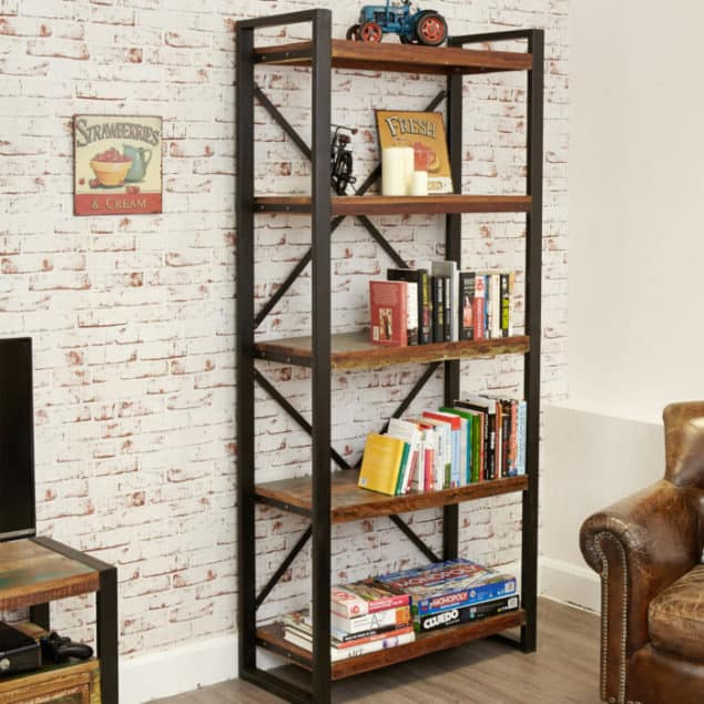 Industrial Chic Urban Chic Large Open Bookcase from Harley & Lola