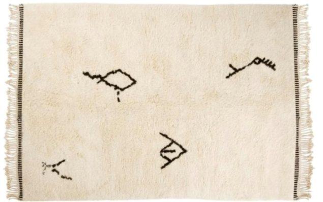 sukhi beni ourain rug featuring tribal berber rug symbols