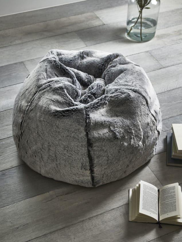 Create a cosy winter home with a Supersoft Faux Fur Beanbag from Cox & Cox