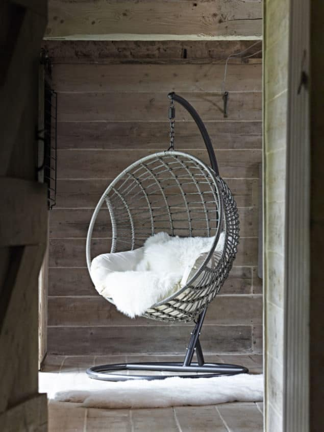 Create a cosy winter home with this Indoor Outdoor Hanging Chair from Cox & Cox