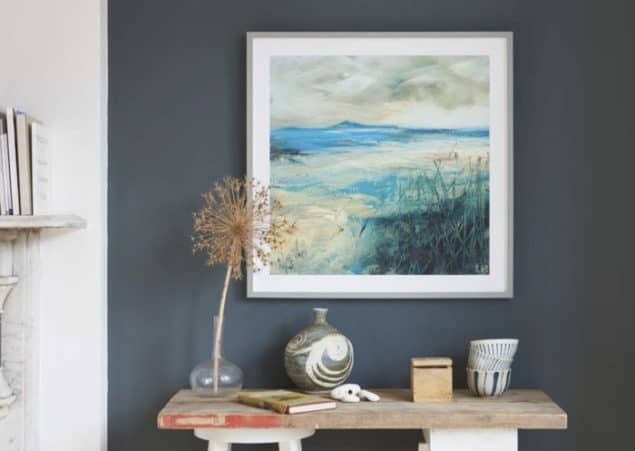 Bespoke Framing King & McGaw coastal artwork