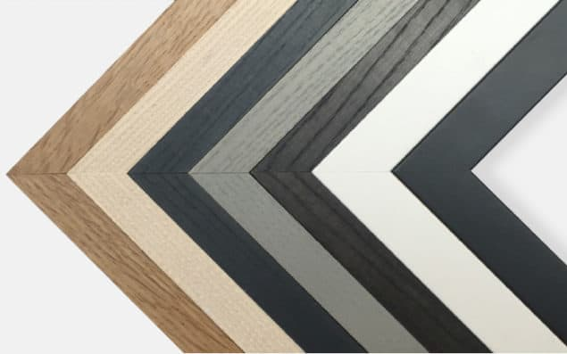 Bespoke framing King & McGaw solid wood frame finishes